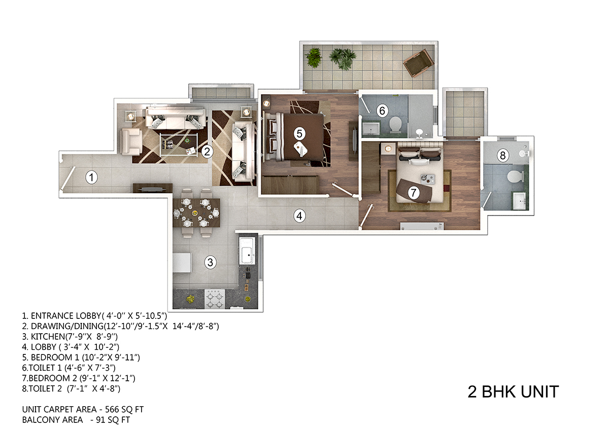 Pivotal paradise new affordable project sector 62 gurgaon 2 bhk flat drawing